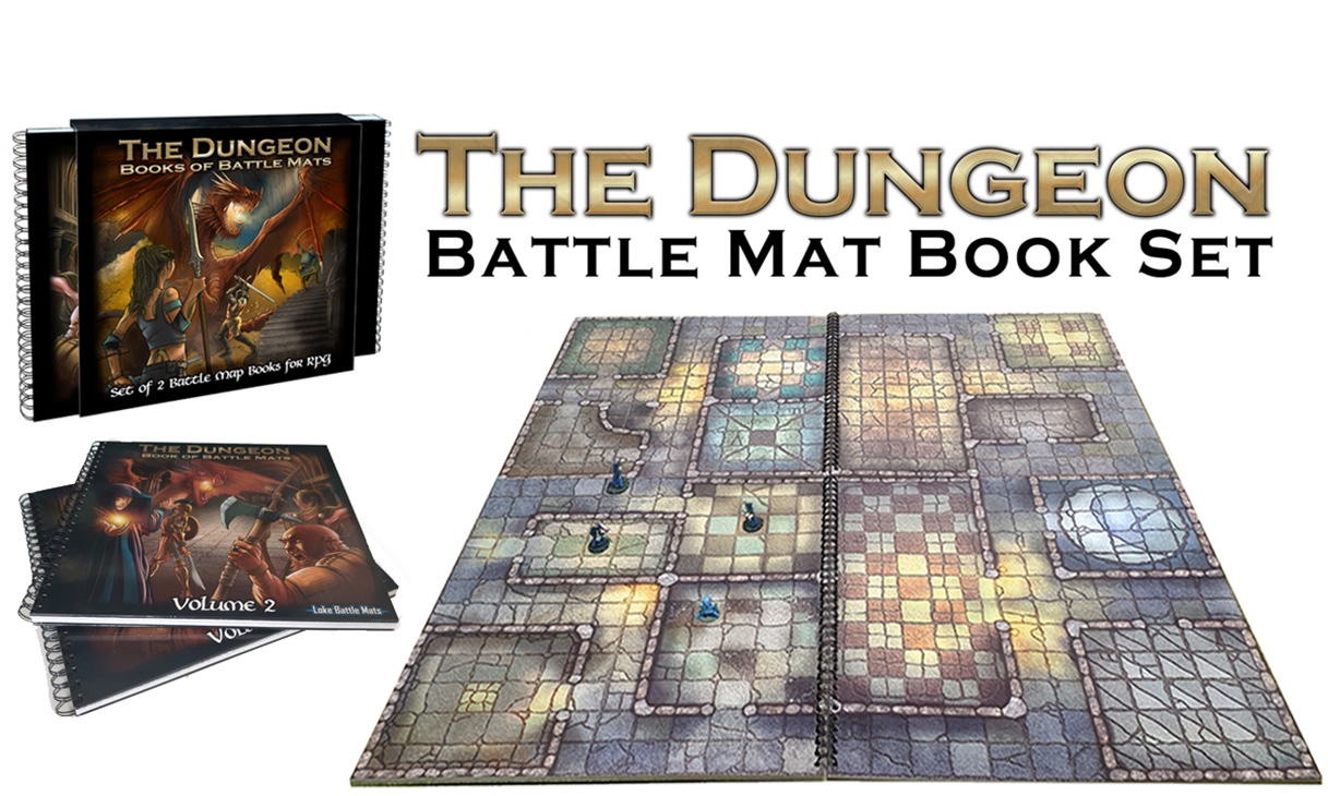 Modular Battle Mat Book Set