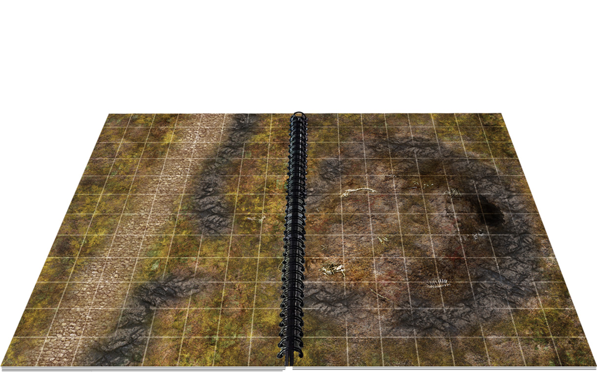 The Giant Book of Battle Mats is 16 inches across when opened